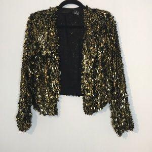 H&M sequins open lightweight cardigan
